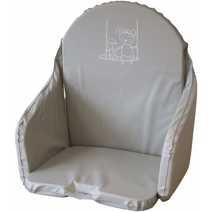 LOOPING Coussin Chaise Haute Gris Perle