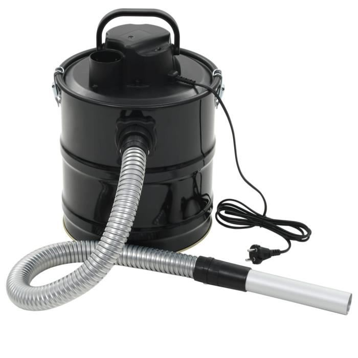 Aspirateur à cendres avec filtre HEPA 1000 W 20 L Noir