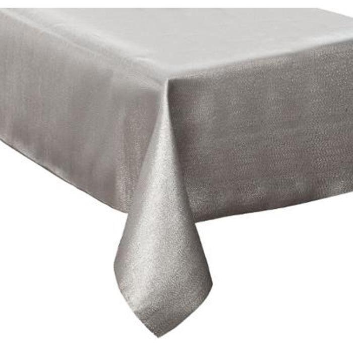 Nappe paillettes en polyester coloris argent - Dim : L.360 x l.140 x H.1 cm