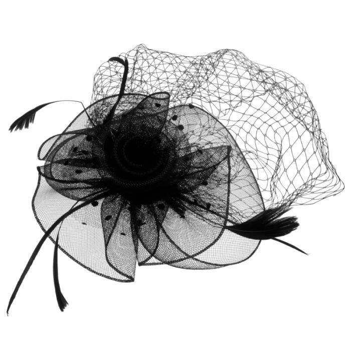 1pc coiffure créative mode plume accessoire de cheveux Net chapeau Photo Performance BANDEAU - SERRE-TETE - HEADBAND - HAIRBAND