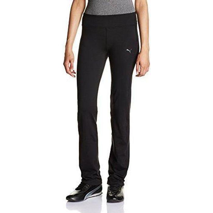 Puma Pantalon coupe droite Essential pour Femme L Noir - noir - 51280901-L/14