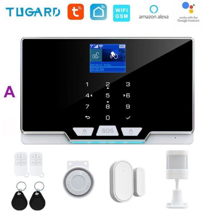 RUMOCOVO® Système d'alarme de sécurité domestique sans fil, wi-fi, Gsm, contrôle des applications,anti-cambriolage version 12