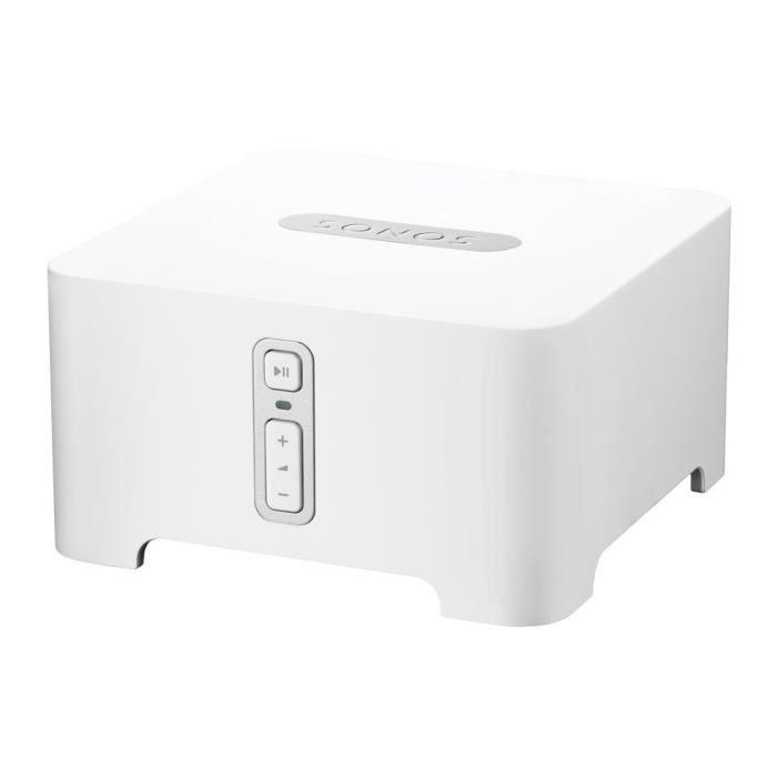 Sonos CONNECT - Connexion sans fil de votre chaine Hi-Fi avec les produits Sonos - Blanc