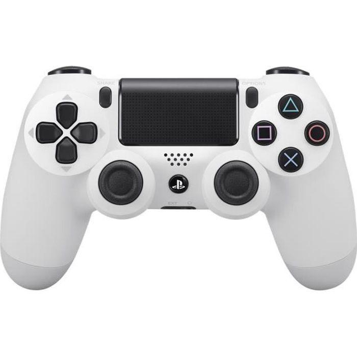 Sony DualShock 4 Gamepad sans fil Bluetooth Blanc glacier pour Sony PlayStation 4