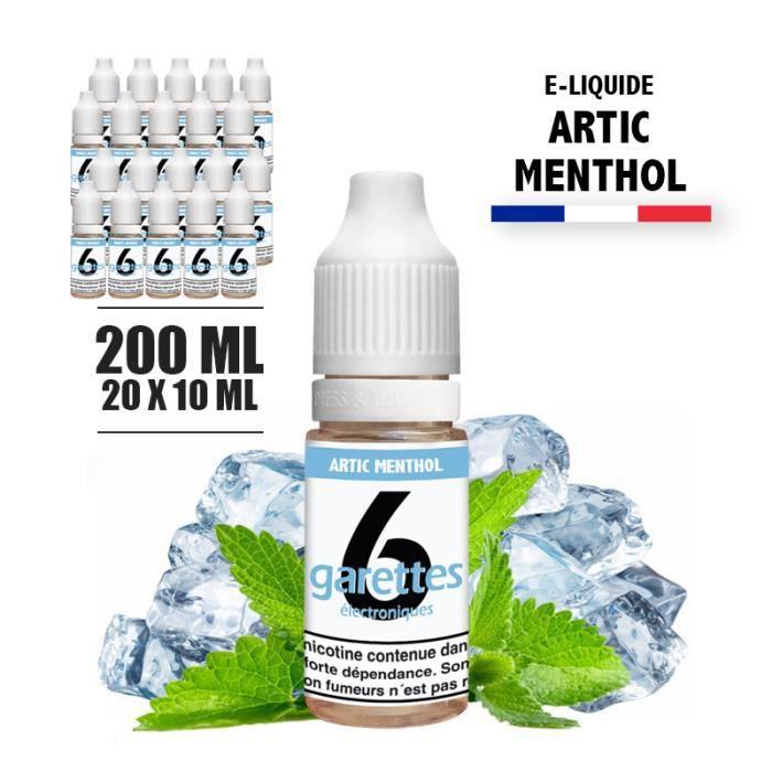 E-liquide 200ML saveur ARTIC MENTHOL avec 12MG de nicotine (e-liquide id : PRD2749) - (20x10ML)