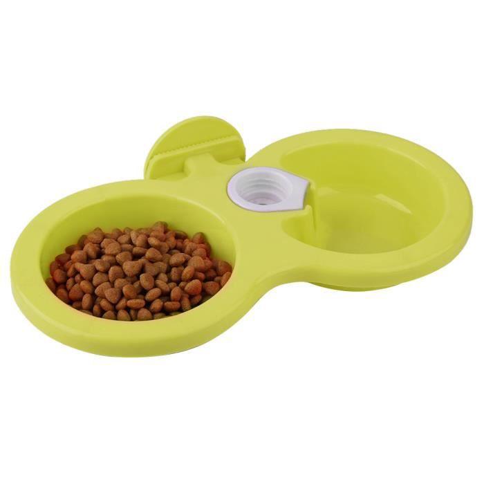 VINGVO intestin d'eau de nourriture pour animaux de compagnie Mangeoire à eau suspendue à double bol pour chiot de chat pour