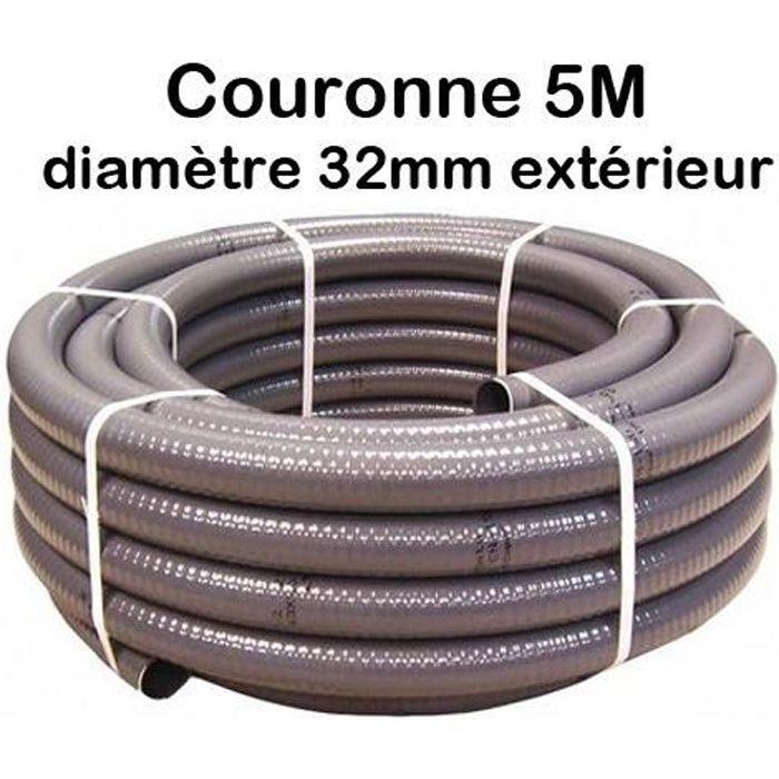 /Ø 32 mm Divisible Tous Les 110/cm Tuyau Piscine Noir Noir Tuyau Solaire Longueur 50 m