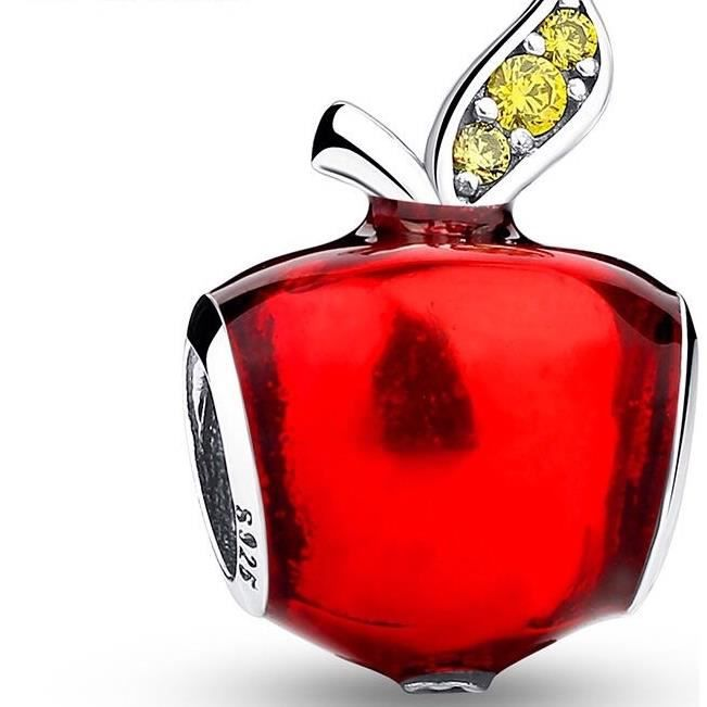 perle pandora pomme rouge
