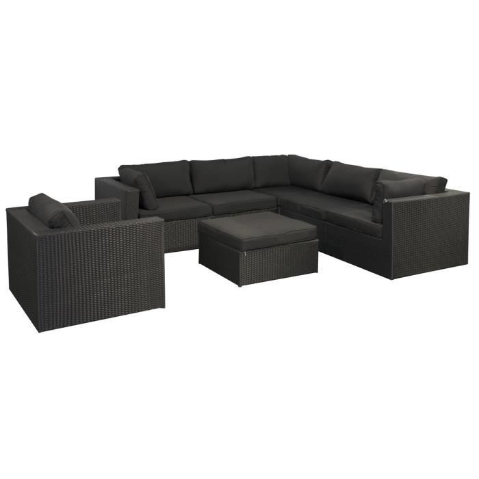 salon de jardin resine tressee rotin synthetique achat vente salon de jardin salon de jardin. Black Bedroom Furniture Sets. Home Design Ideas