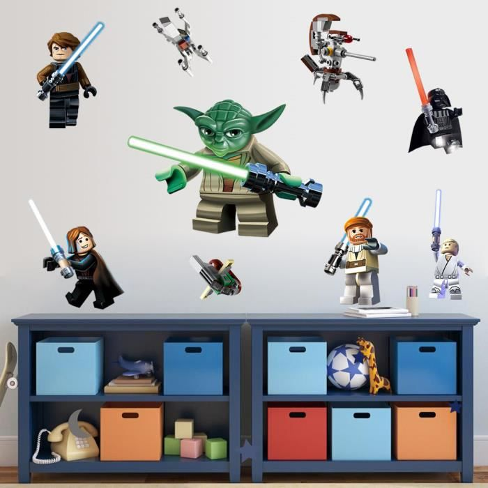 Sticker mural lego star wars achat vente stickers for Mural star wars