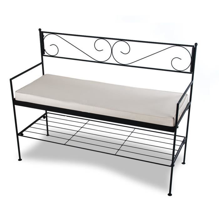 banc de jardin en m tal de110 cm achat vente banc. Black Bedroom Furniture Sets. Home Design Ideas