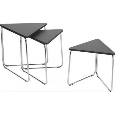 tables gigognes triangle noir achat vente table basse tables gigognes triangle noir cdiscount. Black Bedroom Furniture Sets. Home Design Ideas