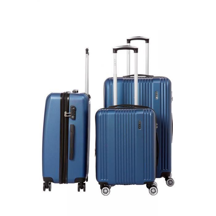 SET DE VALISES Lot de 3 valises rigide 8 roues LYS B1516/3/MARINE