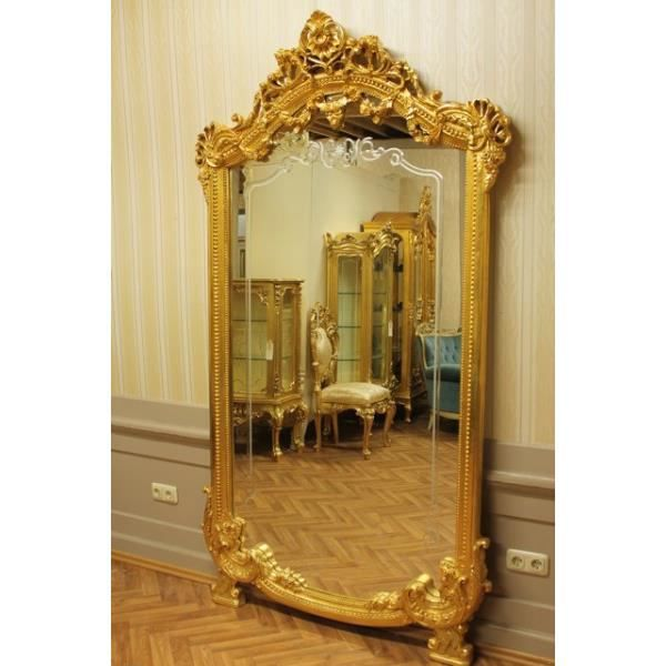 miroir baroque grand miroir mural almi0054go de style antique achat vente miroir black. Black Bedroom Furniture Sets. Home Design Ideas