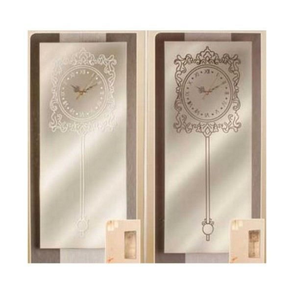 Horloge miroir design deco salon murale pendule achat for Miroir salon deco