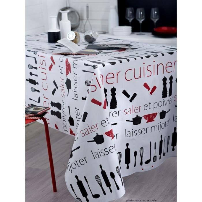 Nappe en Toile cir/ée rectangulaire 140X200 cm Cuisiner