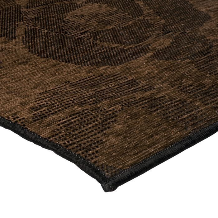 flores fleur tapis 120x170 marron polypropyl achat. Black Bedroom Furniture Sets. Home Design Ideas