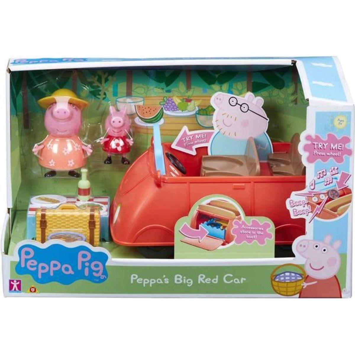 Peppa Pig Big Red Car Avec Sons Et Accessoires Achat Vente Figurine Personnage Cdiscount