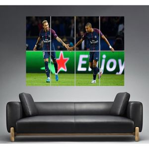 AFFICHE - POSTER Neymar Mbappe Duo PSG Wall Art Poster Grand format