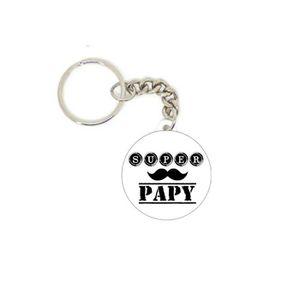 PORTE-CLÉS Porte clé badge SUPER PAPY ref 2 personnalisé idée