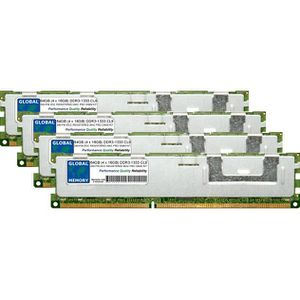 MÉMOIRE RAM 64Go (4 x 16Go) DDR3 1333MHz PC3-10600 240-PIN ECC