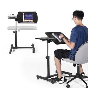 BUREAU  Table pour Ordinateur à roulettes Pliable Portable