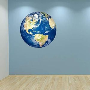 CHAMBRE COMPLÈTE  Couleur Complète Planète Terre Autocollant Mural D