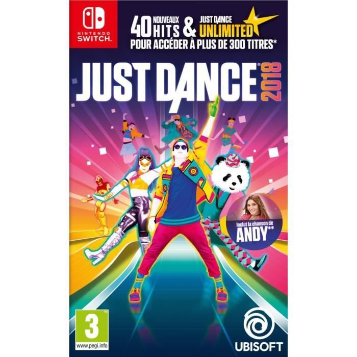 just dance 2018 jeu switch achat vente jeu nintendo. Black Bedroom Furniture Sets. Home Design Ideas