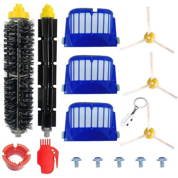Accessoire pour iRobot Roomba Série 600 605 610 615 616 620 621 625 630 631 632 650 651 660 670 680 691 696 - Kit de 15 pièces.