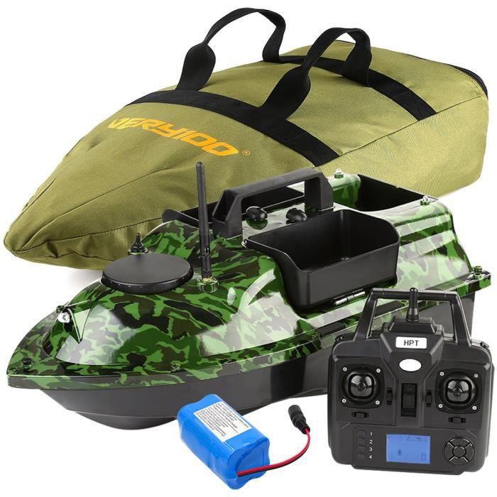 500M GPS Bateau d'amorce Affichage LCD télécommande 3 trémies 5200mA Batterie