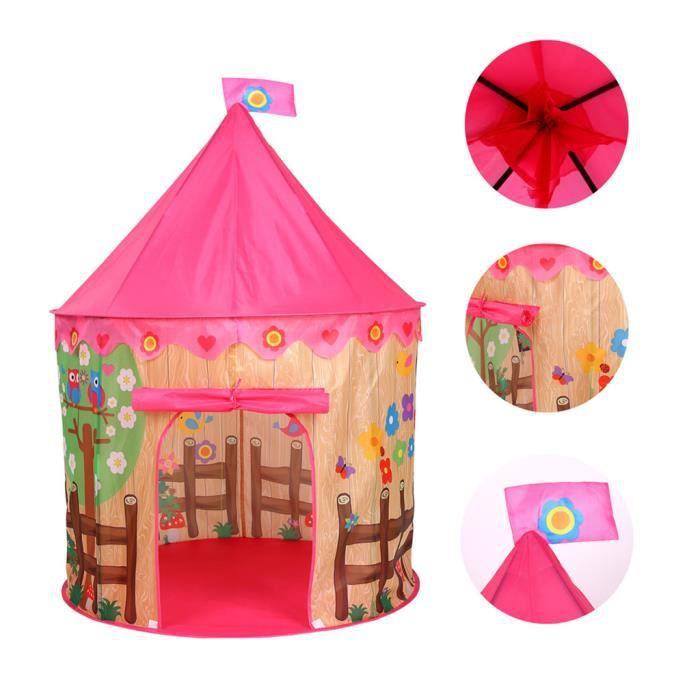 Pliante pour enfants Enfants Play Tent In - Outdoor Maison Jouet pour Garçons Filles Pink House CJL81217304