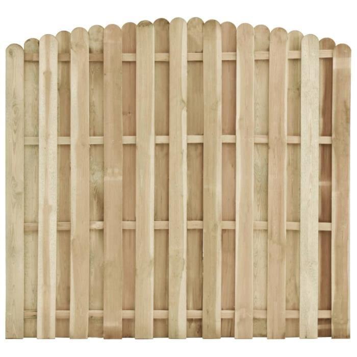 MARKET��- Haute qualité- Panneau de clôture Bois de pin imprégné 180x(155-170) cm��3577
