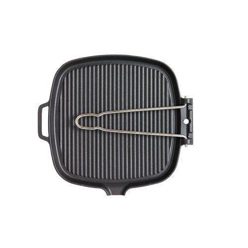 Chasseur - Poêle grill carrée avec manche métal…