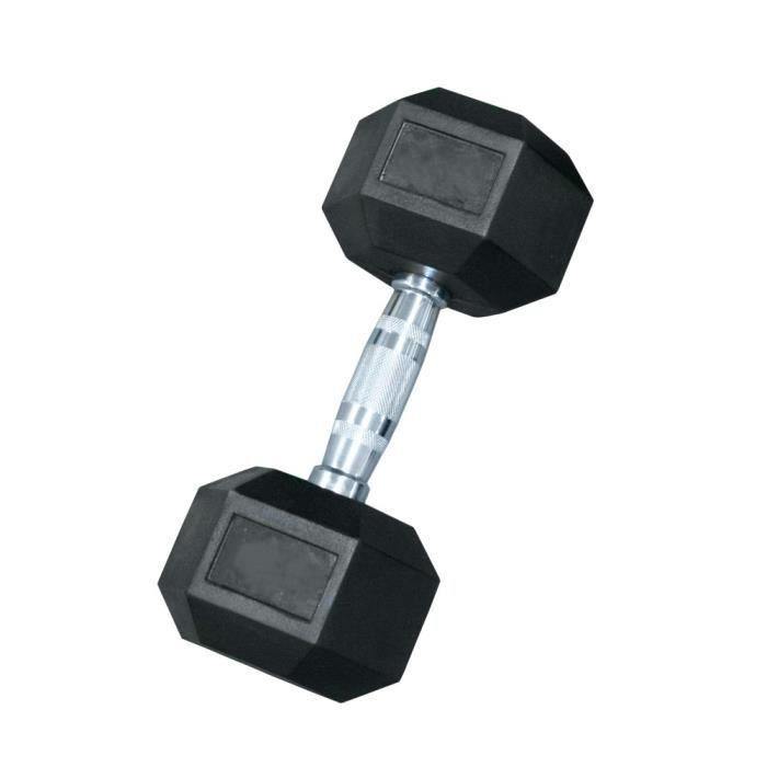 Haltère hexagonal Leader Fit 47,5kg - noir - TU