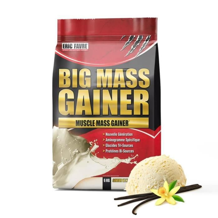 Big Mass Gainer - Protéines + Carb 6kg Vanille