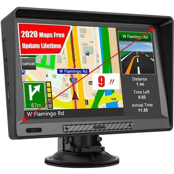 LIUDOU Portable Voiture Poids Lourd De Navigation GPS 9 Pouces Sat Nav &Agrave &Eacutecran Tactile Int&eacutegr&eacute D[118]