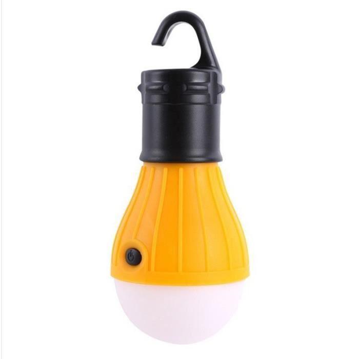 Mini lumières de camping, ampoules écologiques, accessoires de tente, lumières de randonnée-jaune