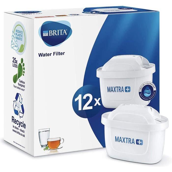 Brita MAXTRA + Pack 12 Cartouches filtrantes compatibles Carafes filtrante BRITA