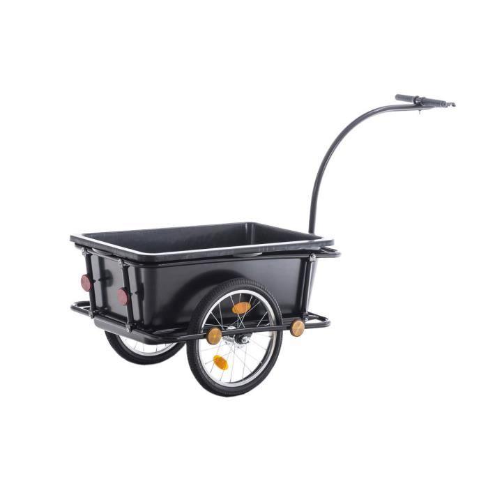 CLP Remorque de vélo LENNY, avec barre d´attelage & accouplement rotatif, capacité max. jusqu´à 80 kg