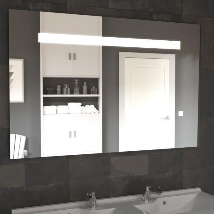 Miroir ELEGANCE 120x80 cm - éclairage intégré à LED et interrupteur sensitif