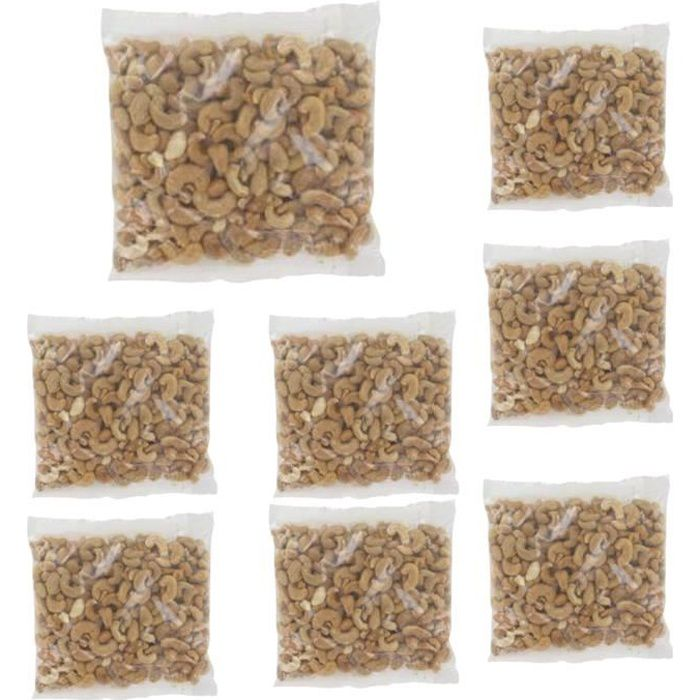 [Lot de 8] Noix de cajou grillées salées - 400g