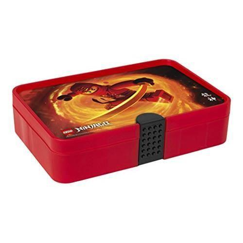 Boîte de tri LEGO Ninjago, Boîte de rangement - conteneur à 11 compartiments, rouge transparent 40841733