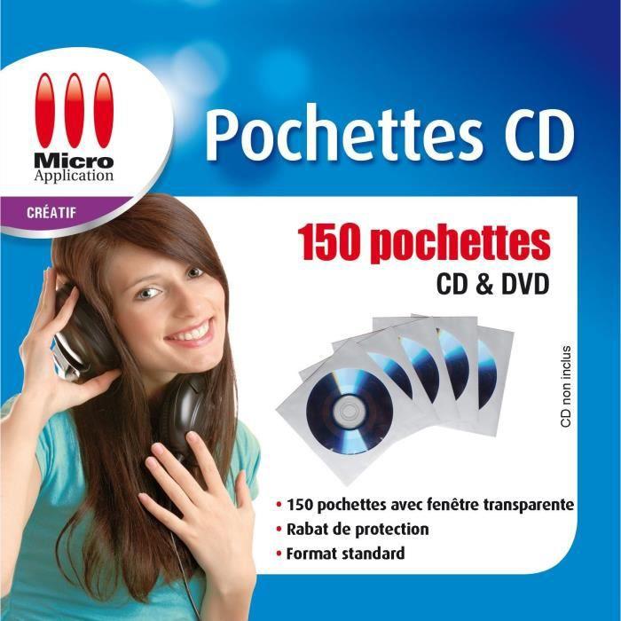 150 pochettes blanches pour CD et DVD