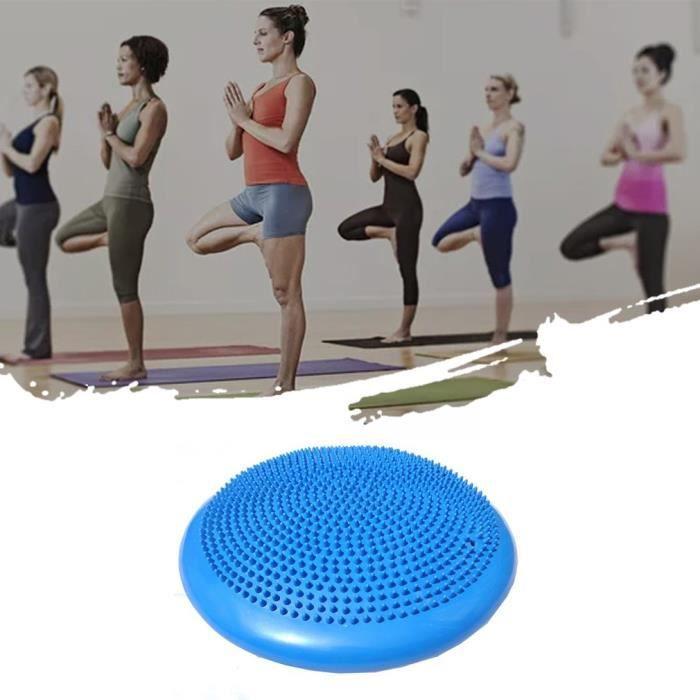 taille portable pvc exercice corporel fitness stabilité disque équilibre yoga pad wobble coussin cheville genou conseil bleu