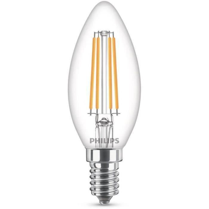 Philips Ampoule LED Equivalent 60W E14 Blanc froid Non dimmable