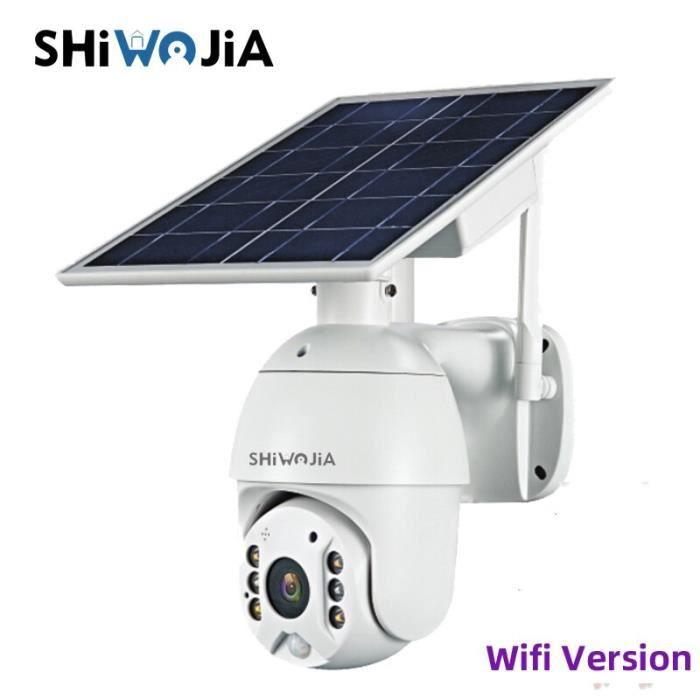 RUMOCOVO® Caméra de vidéo surveillance à panneau d'alimentation solaire, cctv IP 1080P HD, étanche, pour maison intelligente