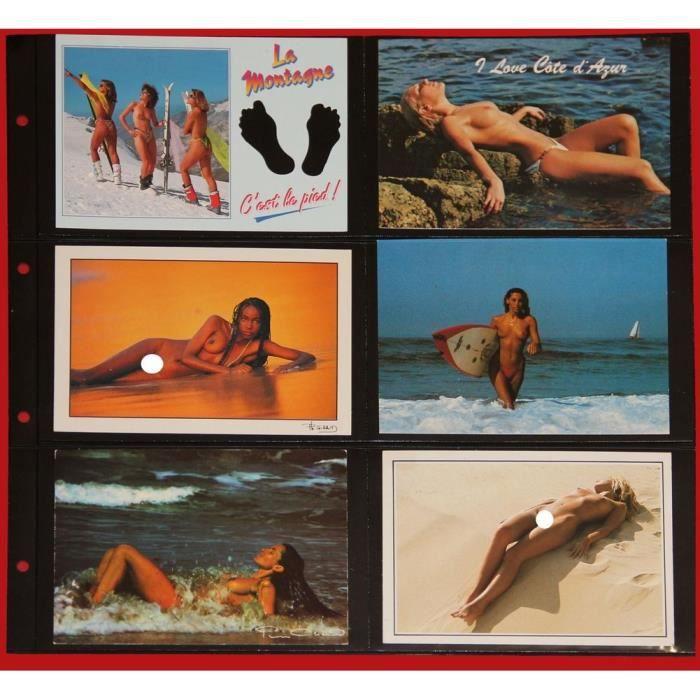 5 feuilles SAFE fond noir pour cartes postales modernes - 12 cases horizontales (pour classeur format 33cmsx33cms)