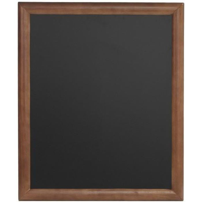 Ardoises murales noires pour cafés et restaurants encadrement bois coloris wenge 60*80cm