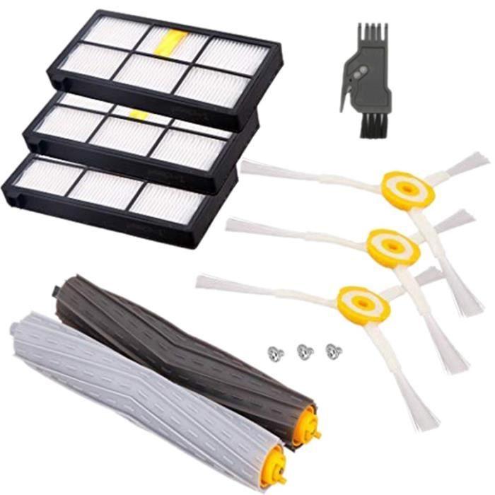 Remplacement pour Pièces Irobot Roomba 980 960 880 860 805 870 , Compatibles avec les Kits de Brosses-Filtres de