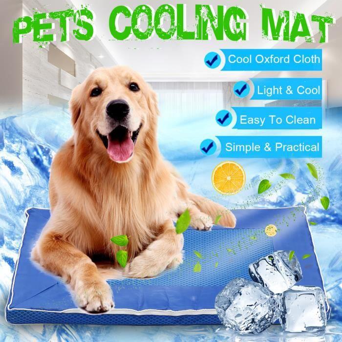 TEMPSA Tapis rafraichissant Tapis de refroidissement pour chien en été Coussin Cool Confort 63X44CM